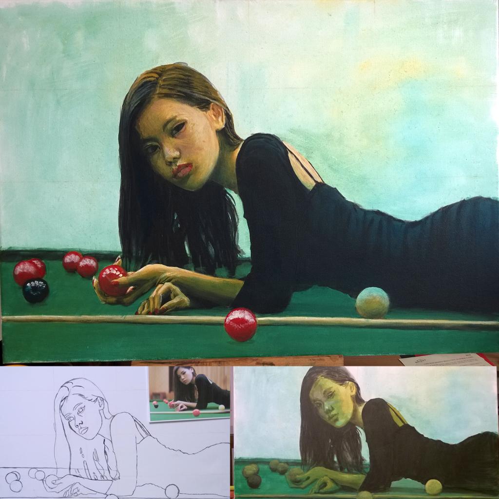 Asian pool  - free copy - Acrylic